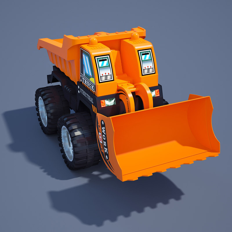 3d model of toy truck