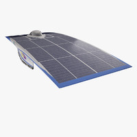 3d solar vehicle nuna 6 model