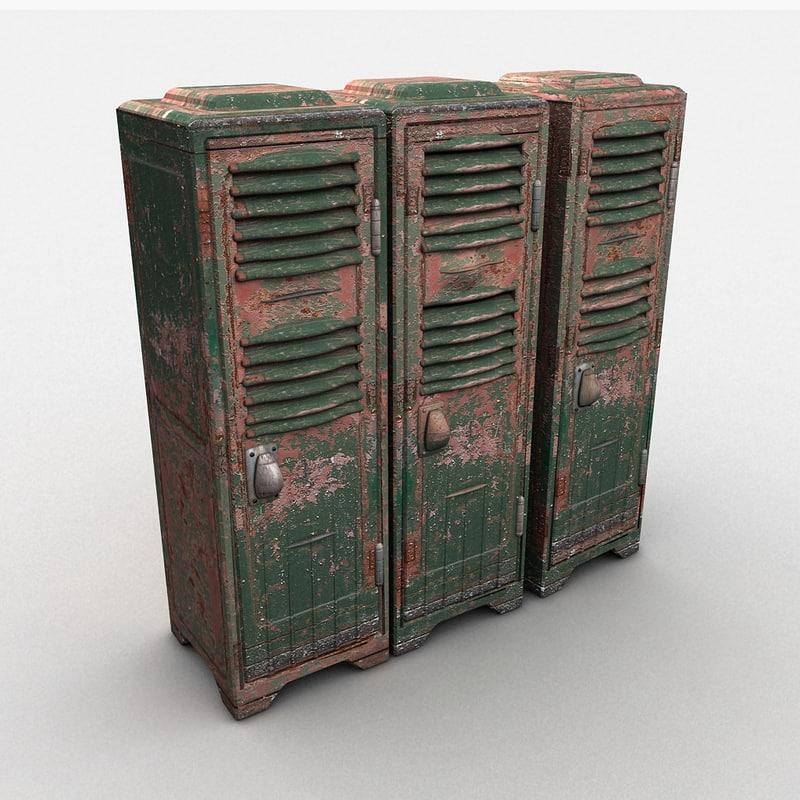 3ds max metal locker heavy