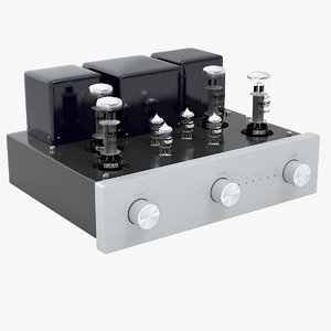 tube amplifier 3d max