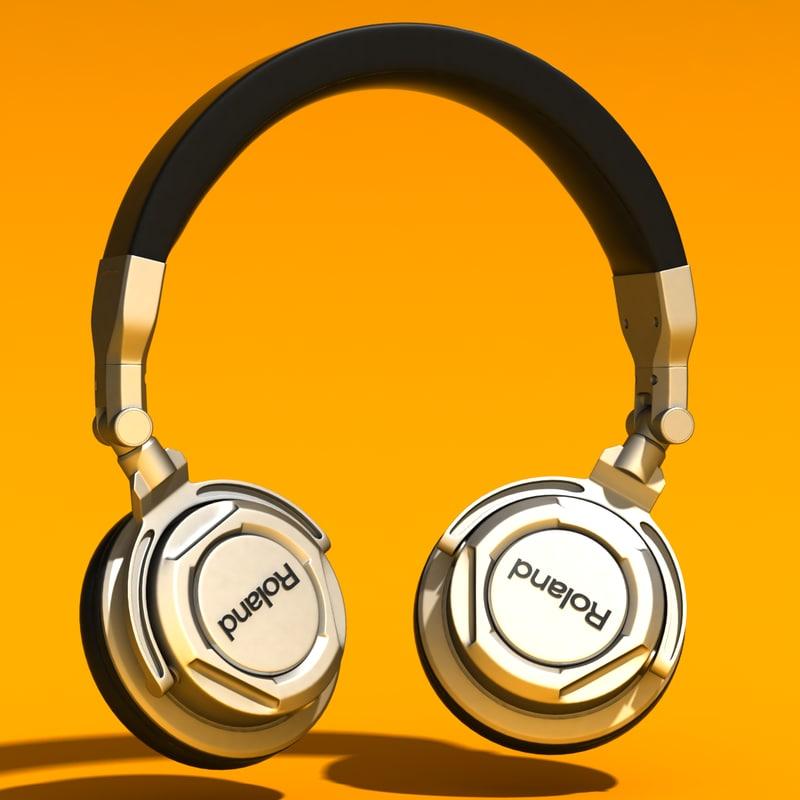 headphones roland head 3d max