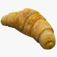 3d model of croissant realistic production