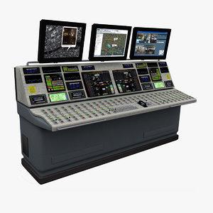 control desk 3d 3ds