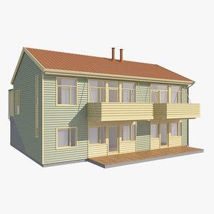 realistic house sammen nb 3d model