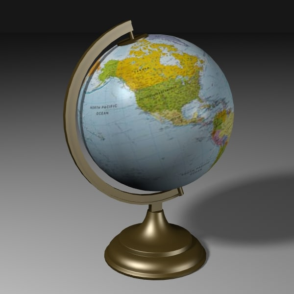 3ds table globe