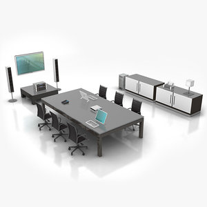 conference room 3d dxf