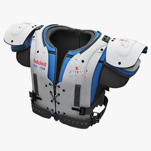 american football shoulder pad 3d model