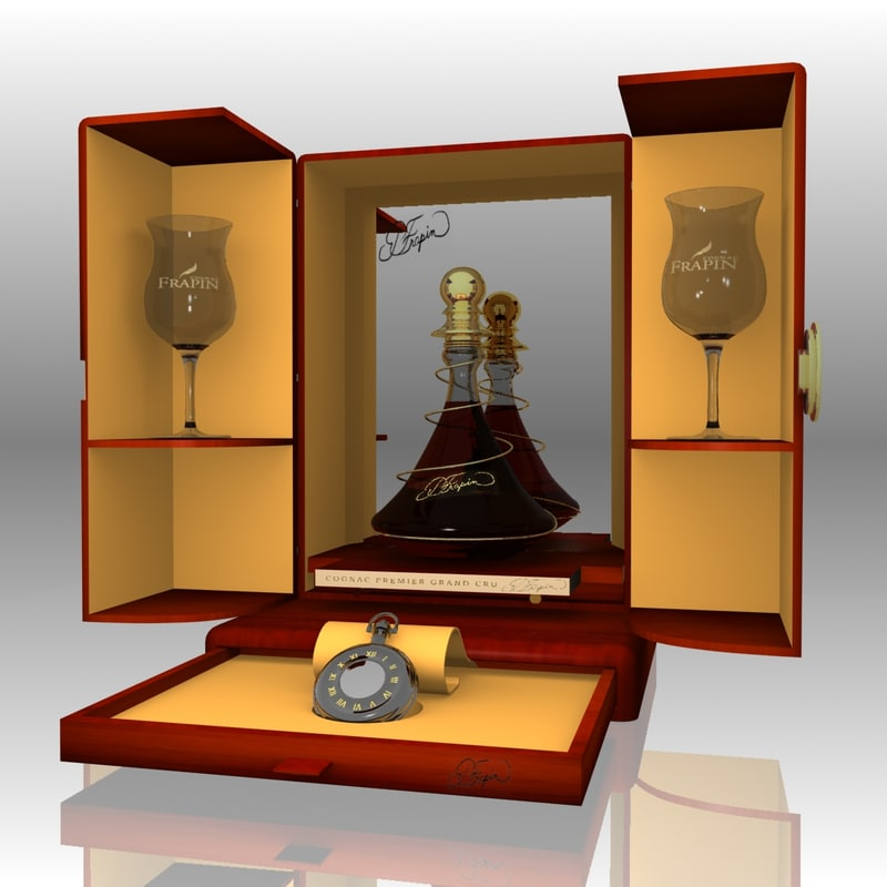 obj realistic pierre frapin cognac