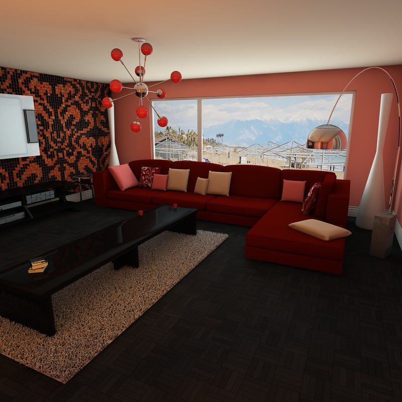 elegant living room c4d