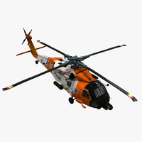 3dsmax hh-60j jayhawk sikorsky helicopter