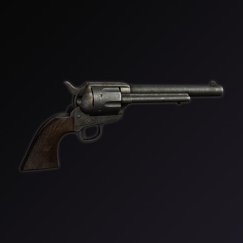 1873 colt revolver 3d model