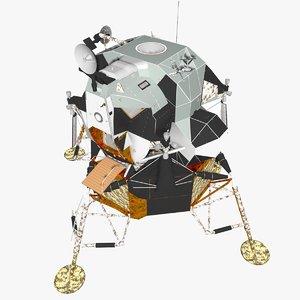 3d model lunar module