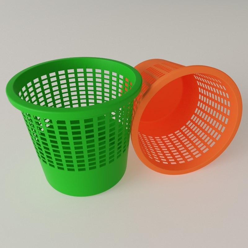3d model dustbin office color