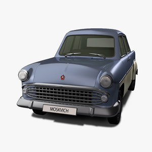 3d model old car moskvich 407