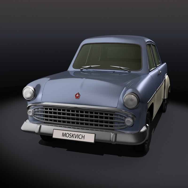 3d model old car moskvich 407