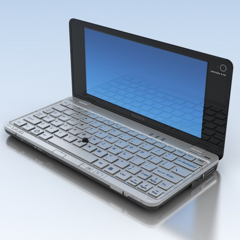 notebook sony vaio 3d max