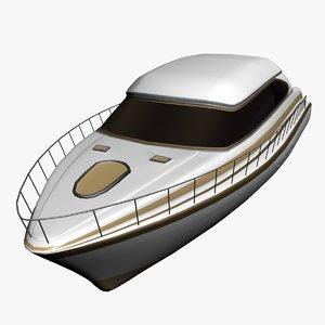 3d model concept boat