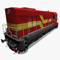 3d diesel locomotive 742 model