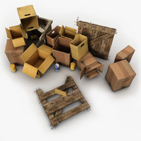 Junk Wooden Crates Paper Boxes
