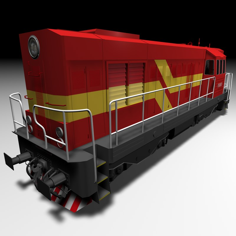 3d diesel locomotive 742 model