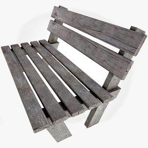 bench games scene 3d max