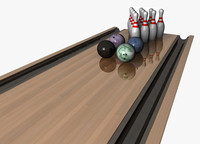 10 pin bowling balls 3d c4d