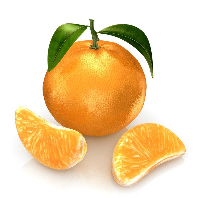 mandarine modeled 3d c4d