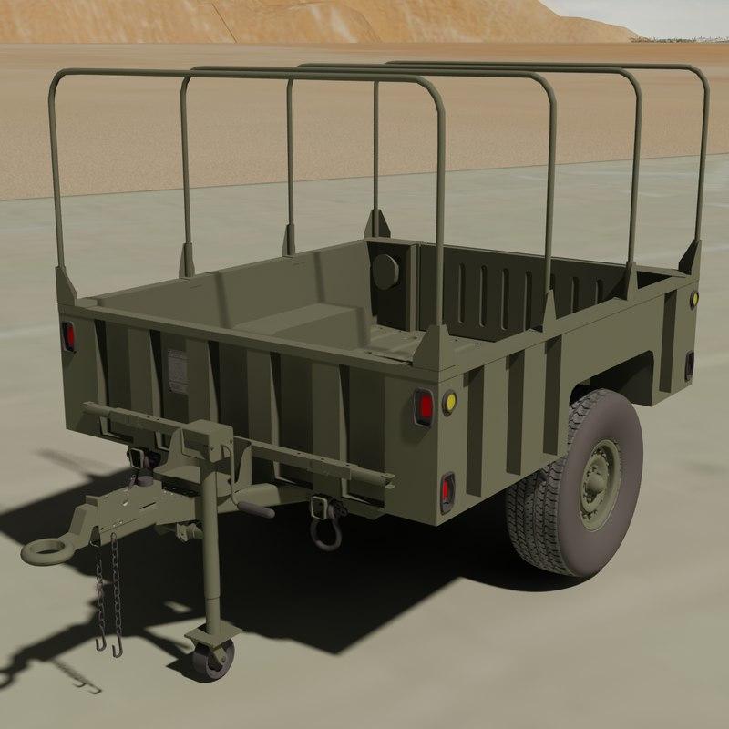 3d model m1101 cargo trailer