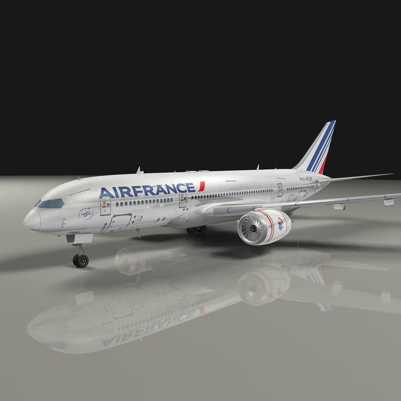 3d model b787 air france