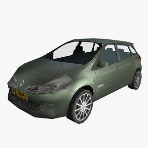 3d car clio estate iii model