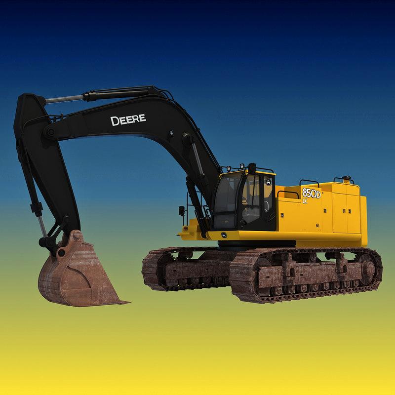 3d model john deere excavator
