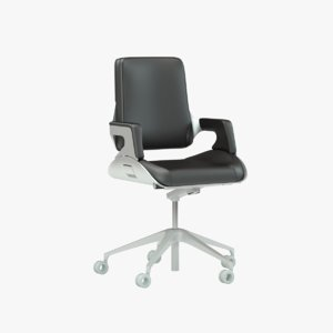 interstuhl silver office chair 3d 3ds