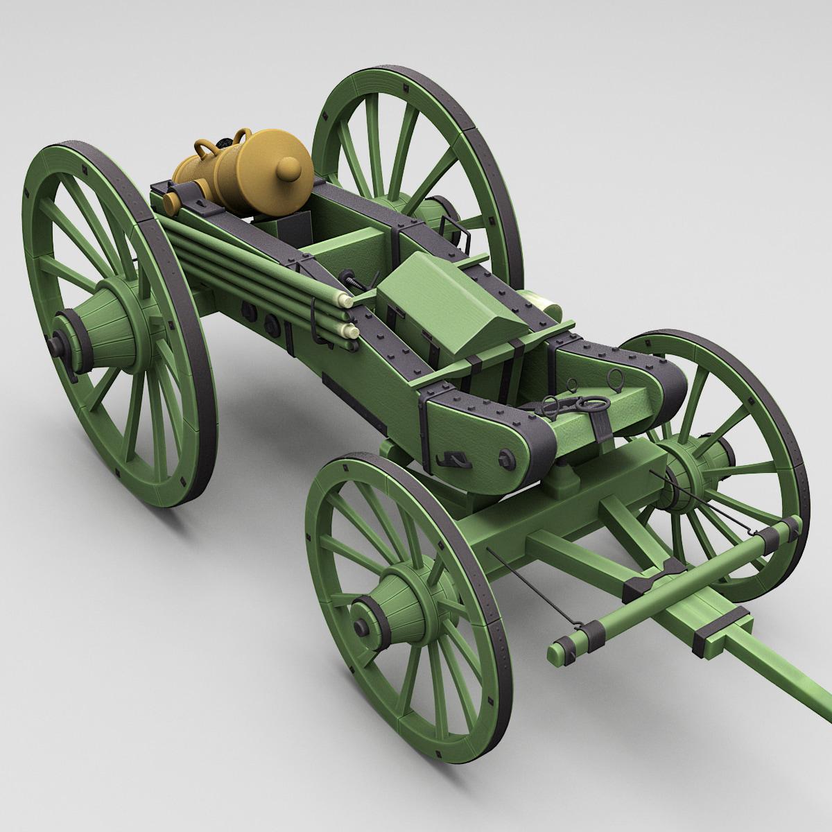 c4d napoleons 6-inch gribeauval howitzer