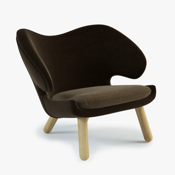 photorealistic pelikan chair obj