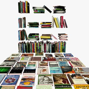 3ds max books shelves