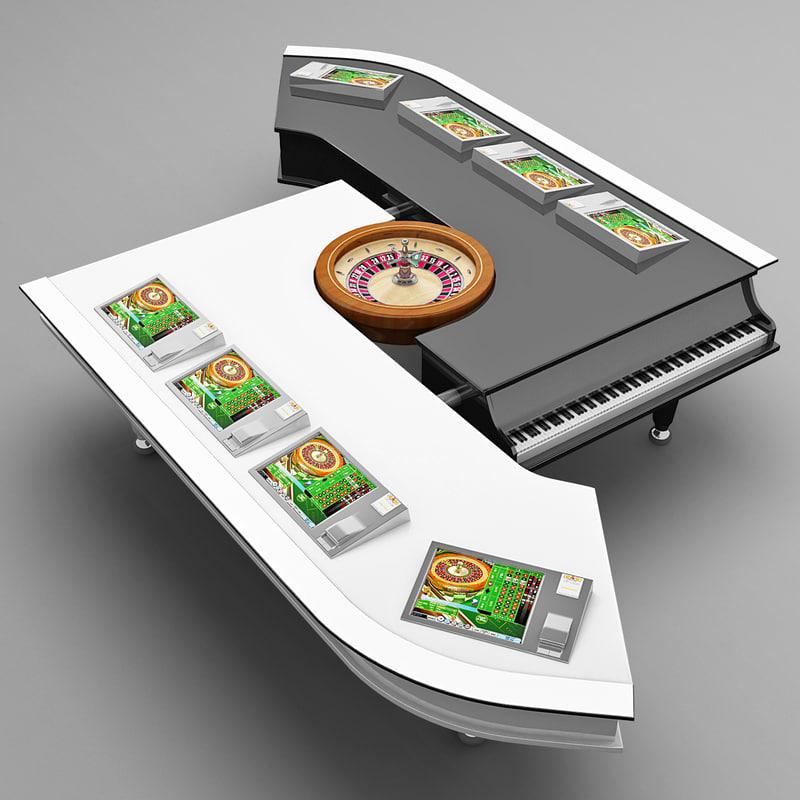 roulette table 4 3d model