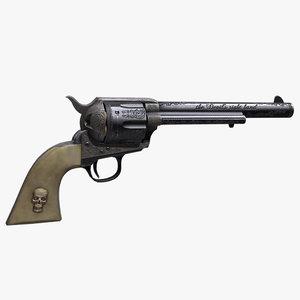 engraved 1873 colt revolver max