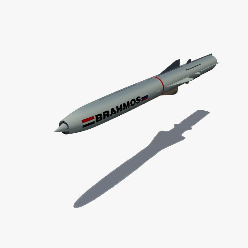brahmos cruise missile 3d max