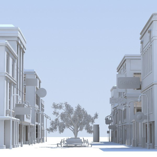 3d shopping street