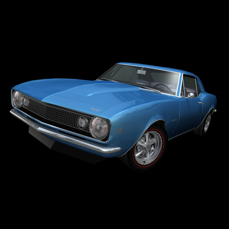 3ds max muscle car 1967 z28