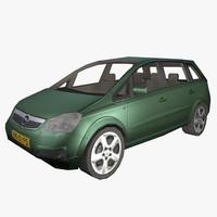 3d model of car opel zafira