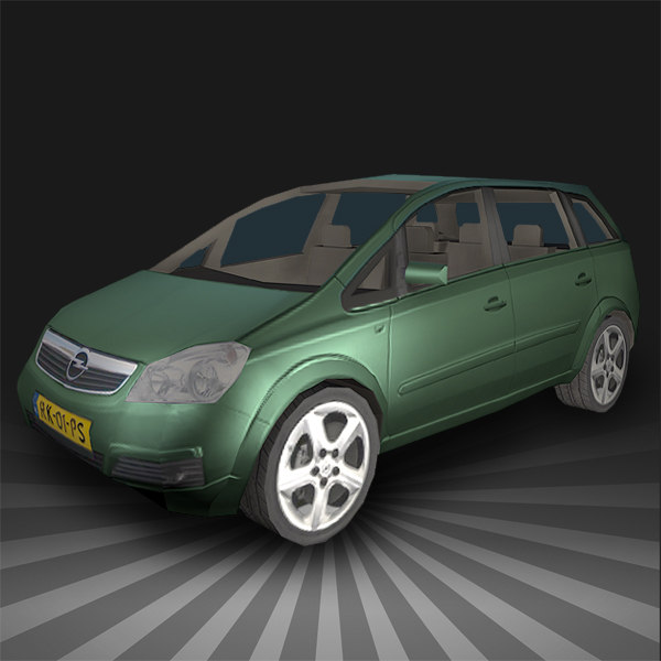 3d model of car opel zafira