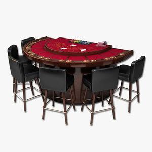 blackjack table stools max