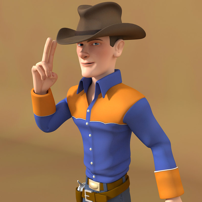 max cartoon cowboy