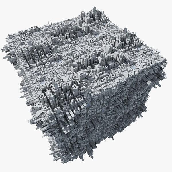 sci-fi space cube max