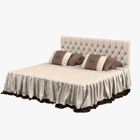 3d model of classic double bed