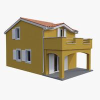 3d model mediterranean house