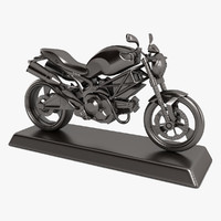 3d motorcycle decoration model