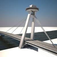 3d model new bridge bratislava