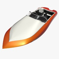 speed boat retro 3d max